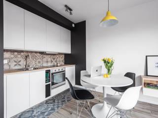 Katowice 1: styl , w kategorii Kuchnia zaprojektowany przez JF architektura wnętrz Katarzyna Janus-Fic