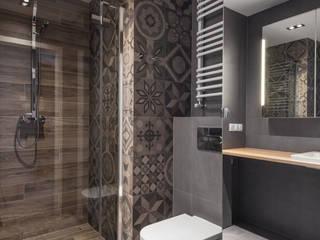 Katowice 1 Nowoczesna łazienka od JF architektura wnętrz Katarzyna Janus-Fic Nowoczesny