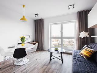 Katowice 1: styl , w kategorii Salon zaprojektowany przez JF architektura wnętrz Katarzyna Janus-Fic