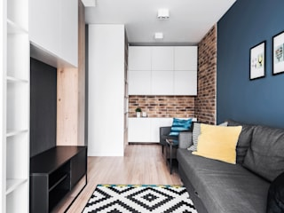 Mieszkanie Kraków: styl , w kategorii Salon zaprojektowany przez JF architektura wnętrz Katarzyna Janus-Fic