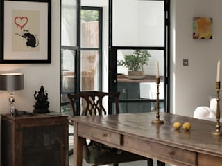 The Balham Kitchen by deVOL deVOL Kitchens Classic style kitchen Wood Blue