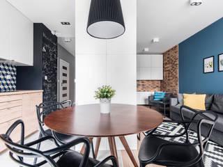 Mieszkanie Kraków: styl , w kategorii Jadalnia zaprojektowany przez JF architektura wnętrz Katarzyna Janus-Fic