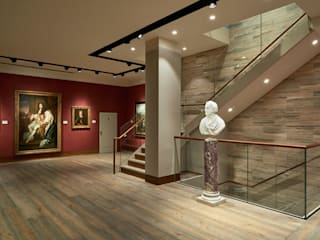 Phillip Mould Art Gallery :  Corridor & hallway by 3 Oak Wood Flooring