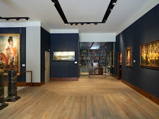 Phillip Mould Art Gallery :  Study/office by 3 Oak Wood Flooring