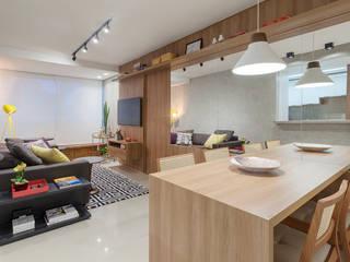 Apartamento .TK Salas de jantar modernas por Amis Arquitetura e Decoração Moderno