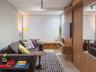 Apartamento .TK Salas de estar modernas por Amis Arquitetura e Decoração Moderno