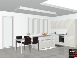 Un open space molto elegante!: Cucina in stile in stile Moderno di Arredamenti Grossi