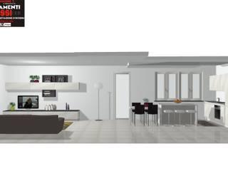Un open space molto elegante!: Sala da pranzo in stile  di Arredamenti Grossi