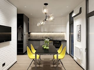 Y.F.architects Living room Concrete Grey