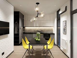 Y.F.architects Salas de estilo industrial Concreto Gris