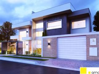 Casas modernas por Amauri Berton Arquitetura