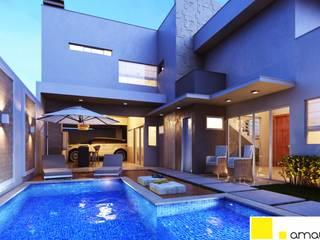 Casas modernas por Amauri Berton Arquitetura Moderno