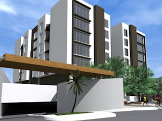 Edificio AZ22 Casas modernas de ARQUITECTO ALEJANDRO ORTIZ Moderno