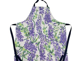 Wisteria White Apron:   by Occipinti