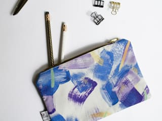 Painterly Zip Purse :   by Occipinti