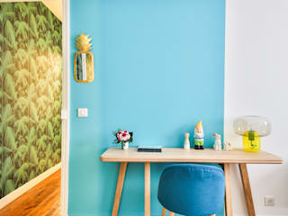 Bureau tropical modulable: Bureau de style  par CLAIRE CLERC DECORATION INTERIEURE