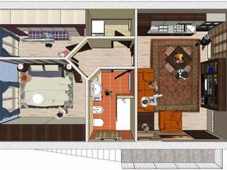 Mini appartamento da 50 mq - 50 sqm flatlet Soggiorno moderno di Planet G Moderno