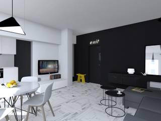 Salas de estar modernas por mia architekci s.c. Moderno