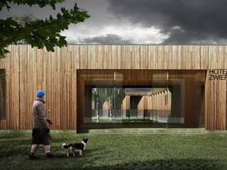 Projekt hotelu dla zwierząt od ddArchitekci Minimalistyczny