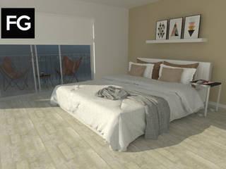 Diseño de interiores departamento de FG ARQUITECTURA E INTERIORISMO Moderno