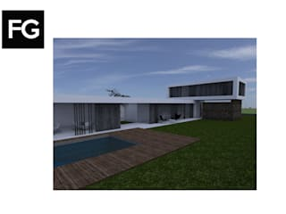 ANTEPROYECTO VIVIENDA DE FIN DE SEMANA Casas modernas: Ideas, imágenes y decoración de FG ARQUITECTURA E INTERIORISMO Moderno