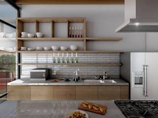 Cocinas de estilo industrial de gOO Arquitectos Industrial