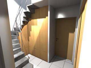 Hall: Couloir et hall d'entrée de style  par STUDIO 88