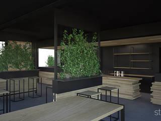 BeCool Cafè Bar & Club in stile minimalista di Studio Piraf Minimalista