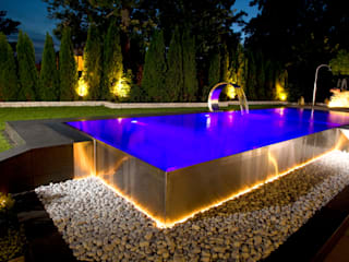 ​Stunning Stainless Steel Pools Piscine moderne par London Swimming Pool Company Moderne