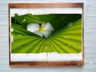 HOLZBILD naturfotografie auf holz | WOOD PICTURE nature photography on wood von LEO & FISH Rustikal