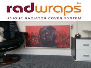 Dog & Roses: classic Living room by Radwraps Ltd