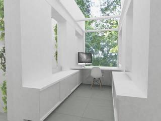 Bureau sous verrière zénithale: Bureau de style  par Yeme + Saunier
