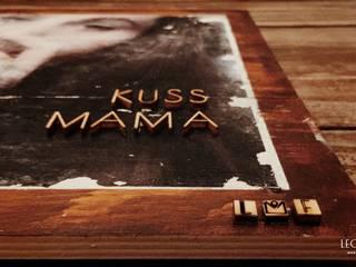 private bilder auf holz | private picture on wood von LEO & FISH Rustikal