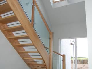 New house at Dornoch Modern corridor, hallway & stairs by Matheson Mackenzie Ross Architects Modern