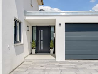 homify Modern Garage and Shed White