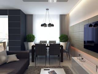 Salon minimaliste par M5 studio Minimaliste