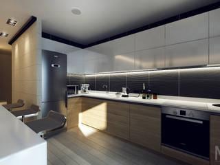 Nhà bếp phong cách tối giản bởi M5 studio Tối giản