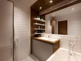Проект White & Wood: Ванные комнаты в . Автор – M5 studio
