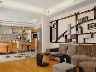 Eclectic style living room by архитектурная мастерская МАРТ Eclectic
