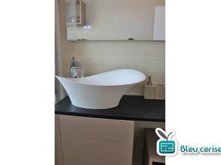 Salle de bain « zen » Bleu Cerise