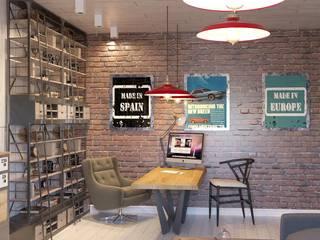 Кабинет в лофте Рабочий кабинет в стиле лофт от DS Fresco Лофт