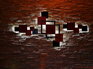 Wanddekoration beleuchtet auf Paneelenwand:   von Rimini Baustoffe GmbH