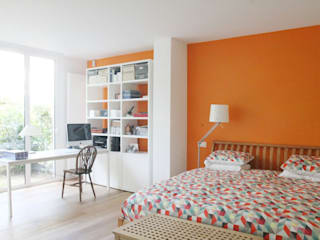 Vert Chasseur Chambre moderne par BE-DESIGNER Moderne