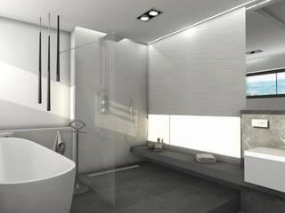 Baños de estilo moderno de Designbox Marta Bednarska-Małek Moderno