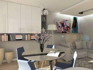 Salones de estilo moderno de Designbox Marta Bednarska-Małek Moderno