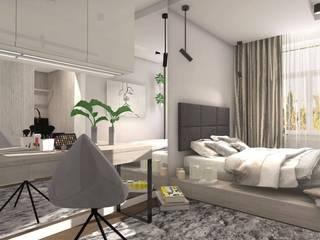 Scandinavian style bedroom by Designbox Marta Bednarska-Małek Scandinavian