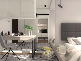 Dormitorios de estilo escandinavo de Designbox Marta Bednarska-Małek Escandinavo