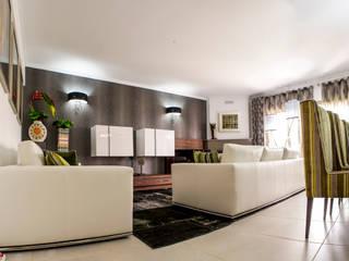 Moradia 19 Algarve 2013 Salas de estar modernas por Atelier Ana Leonor Rocha Moderno