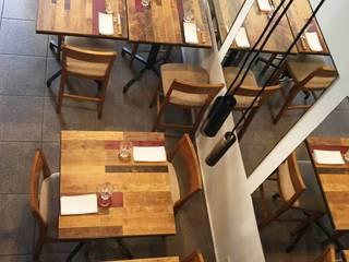 Rénovation d'un restaurant Gastronomie moderne par AMNIOS Moderne