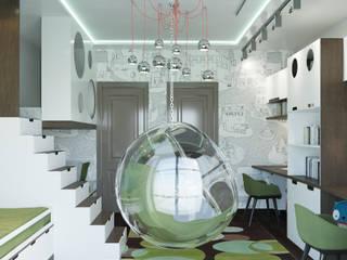 Визуализация части квартиры: Детские комнаты в . Автор – AT3D